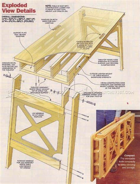 Folding Work Table Plans