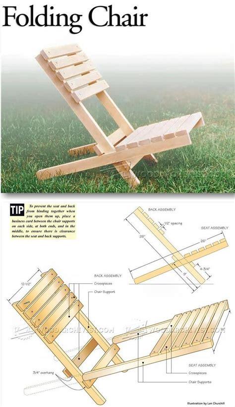Folding X Chair Plans