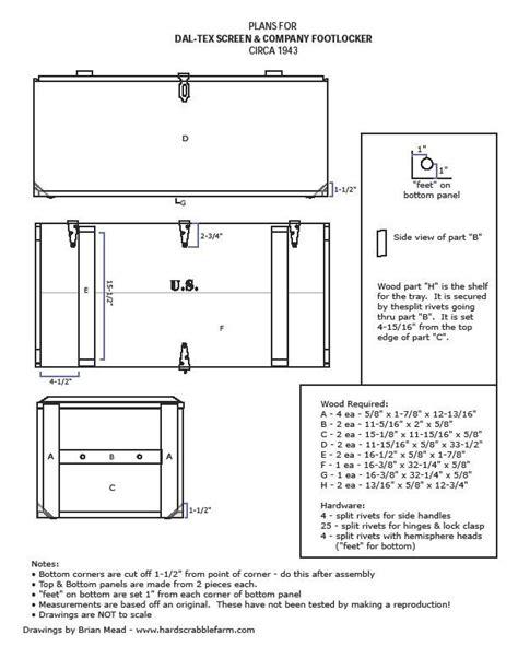 Foot Locker Plans Woodworking