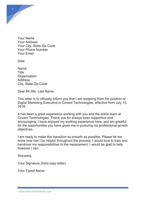Formal Resignation Letter With Notice Period Sample Job Resignation Letter With Notice Period