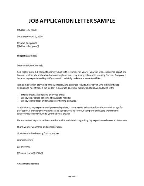 Format Of Job Application Letter Pdf Job Application Letter Format Samples Examples