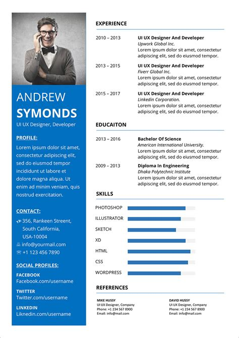 Format Of Job Resume Pdf Resume Template For Fresher 10 Free Word Excel Pdf