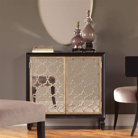 Franzea Mirrored Accent Cabinet