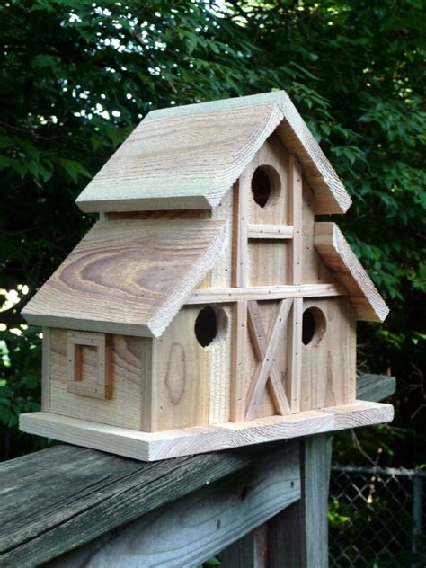free bird house plans barn style roof