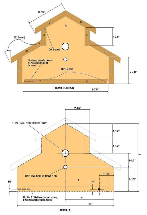free birdhouse woodworking plans