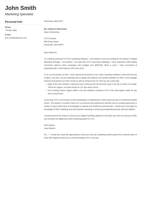 Graduate admissions counselor cover letter