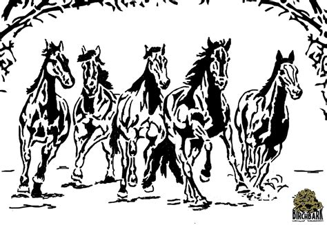 free scroll saw patterns of horses
