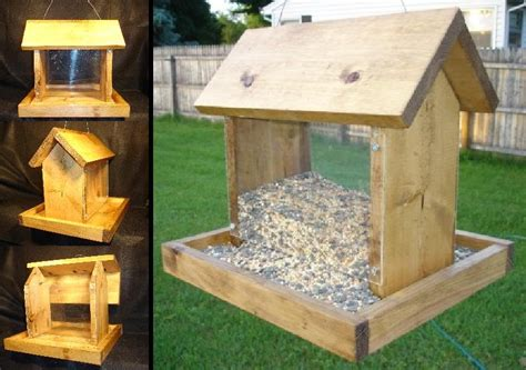 free wood patterns for bird feeders