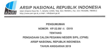 Free Download Soal Cpnsarsip Nasional Republik Indonesia Anri 2017  Formasi Cpns Anri Arsip Nasional Republik Indonesia