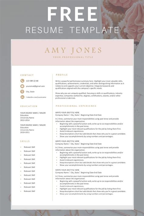 free downloadable creative resume templates professional