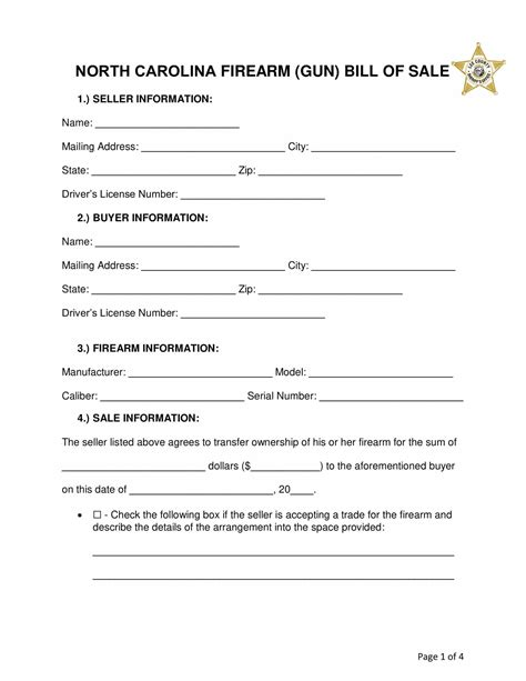 Bill Of Sale Form For Gun | Sample Of Resignation Letter For One