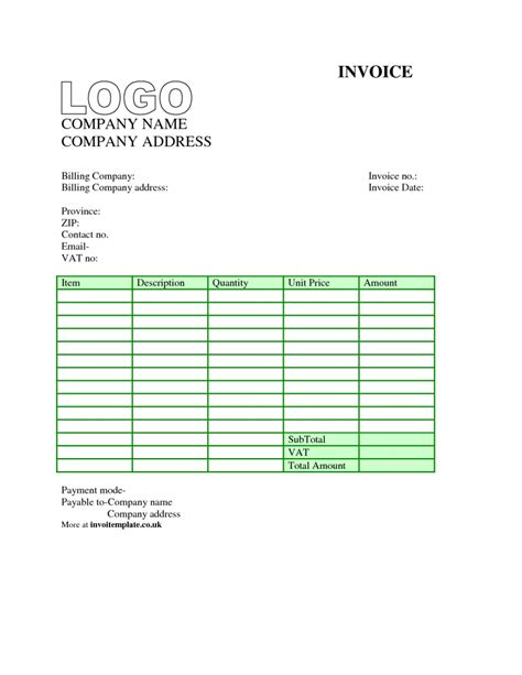 basic uk invoice template | legal resignation letter format, Invoice examples