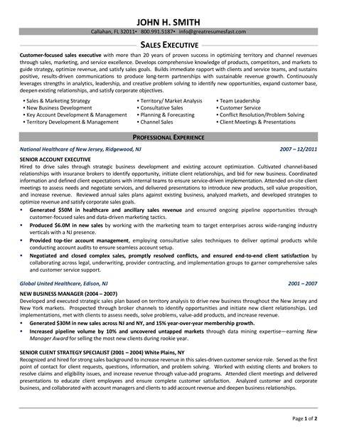 free linear executive resume template free executive resume template samplewords forms documents - Free Executive Resume Templates
