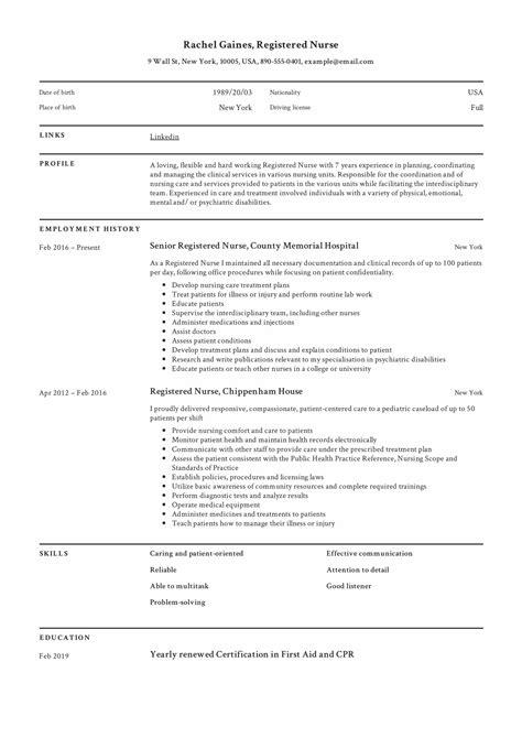 free nurse resume samples resume samples free sample resume examples - Free Nursing Resume Samples