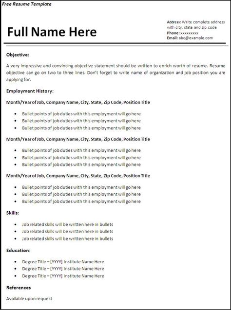 free online resumes for employers free resume examples free sample resumes - Free Resumes For Employers