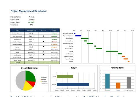 free project management calendar template
