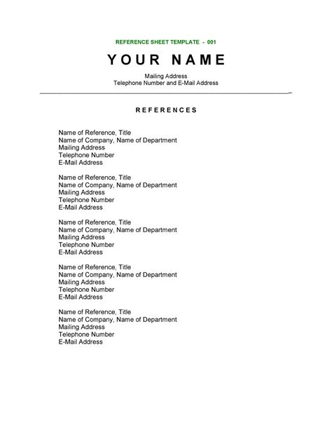 creating resume reference list free references page creator instantly create print and - Professional Resume Reference Page