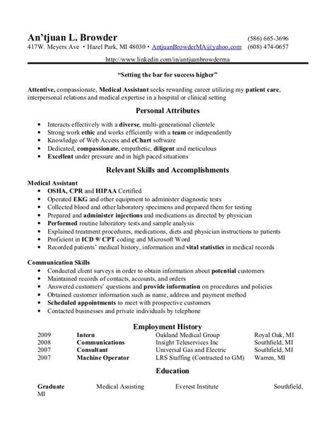 Free Resume Builder For Medical Assistant 10 Medical Assistant Resume Objective Examples Job