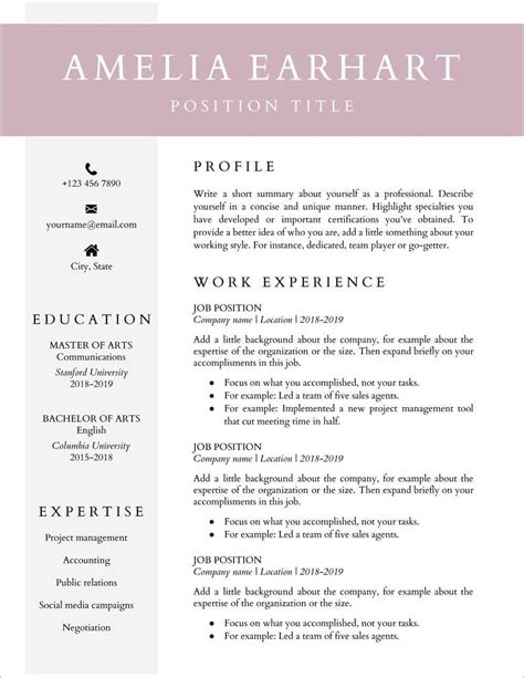 Free Resume Templates Education Education Resume Template