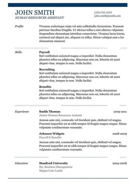 free resume templates copy and paste free copy and paste resume templates template