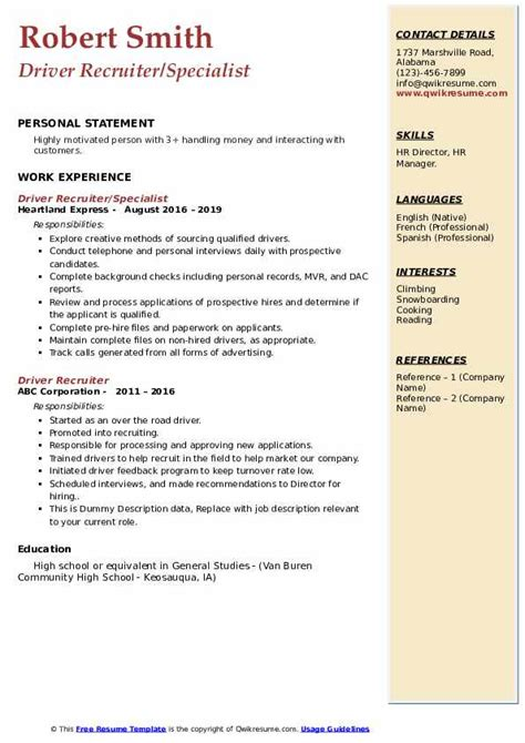 free resume search sites for recruiters in usa resume format