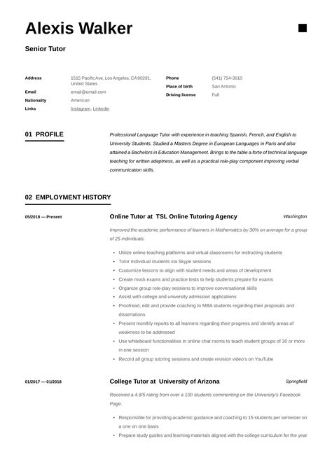 free resume samples in english legal letter of support template private tutor resume