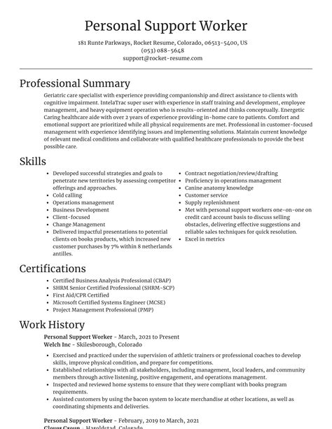 free resume assistance calgary psw personal support worker resume samples - Free Resume Assistance