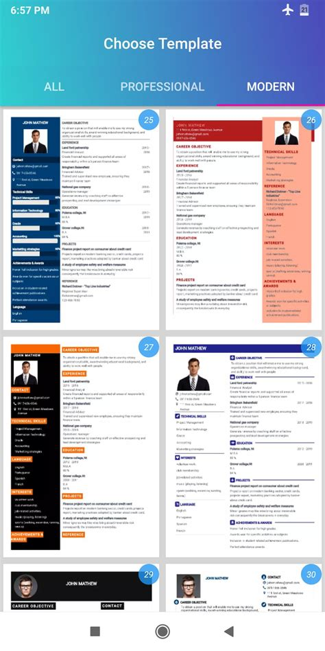 free resume templates for ipad resume templates app for ios free download and software