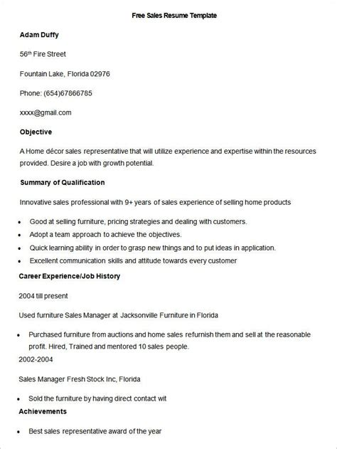 free resume examples online free sales resume examples online free resume samples for every career over
