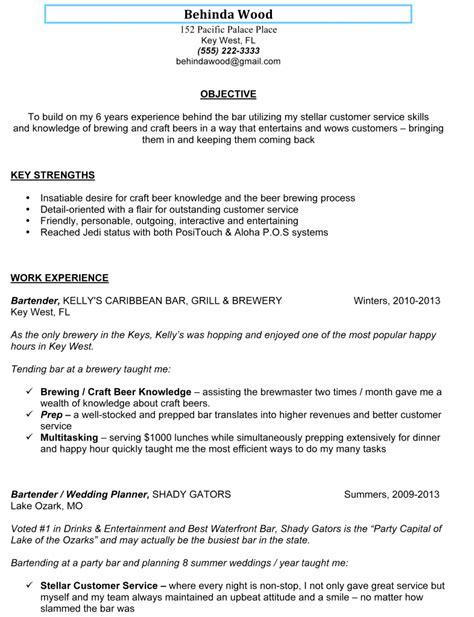 free sample bartending resume template | back to back letter of ... - Examples Of Bartending Resumes
