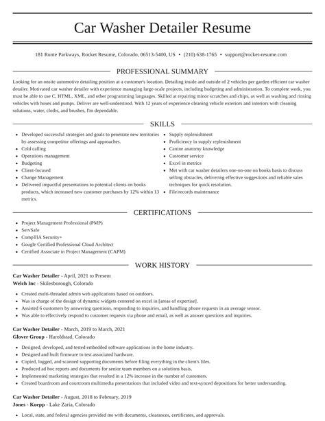free sample resume auto detailer car detailer resume sample cover letters and resume auto detailer - Auto Detailer Resume