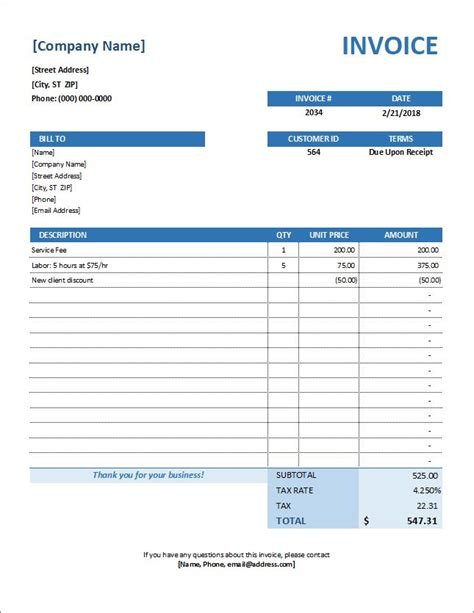sales invoice template xls | career builder resume service review, Invoice examples