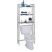 Free Standing 25.5 W x 60.75 H Over the Toilet Storage