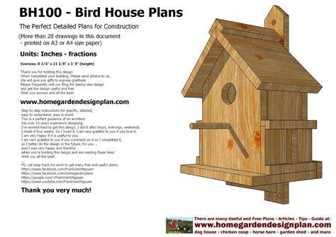 Free Bird House Plans