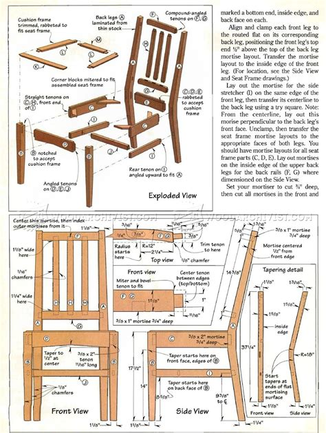 Free Dining Chair Woodworking Plans