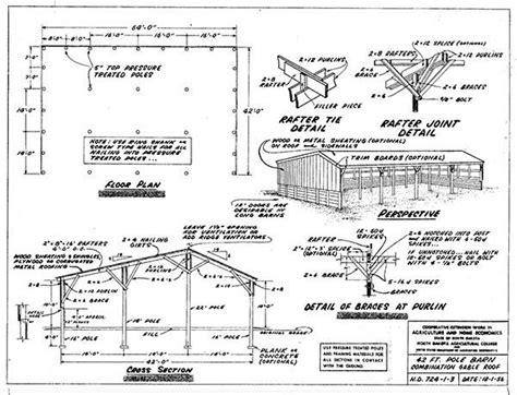 Free Pole Barn Plans Blueprints