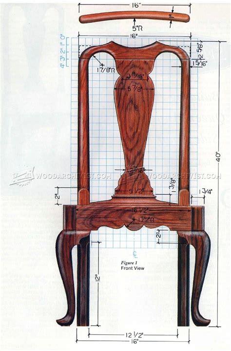 Free Queen Anne Chair Plans