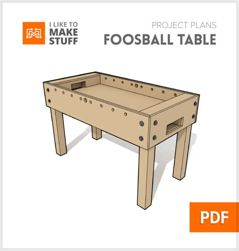 Free Woodworking Plans Foosball Table