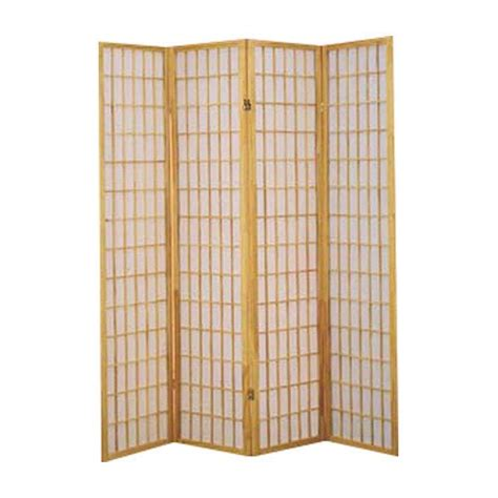 Freese 70 x 69.5 Shoji 4 Panel Room Divider