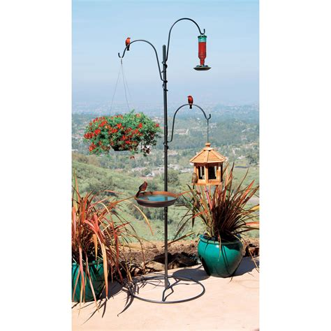 freestanding bird feeder for deck