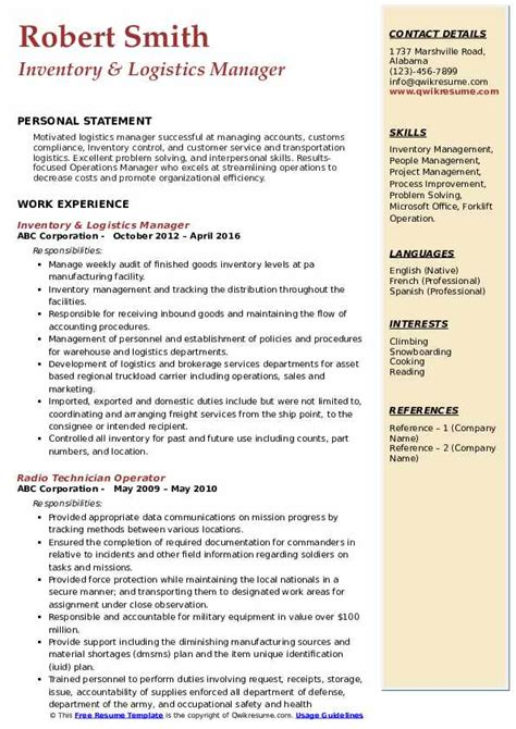 sample freight team associate resume