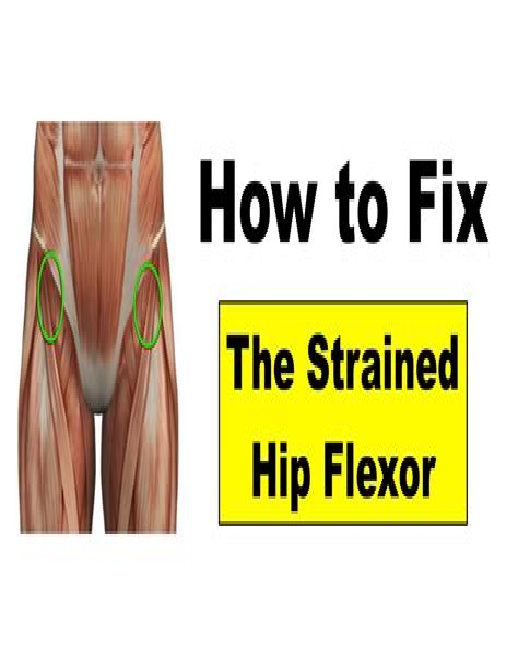 front hip flexor exercises after hip injury treatment