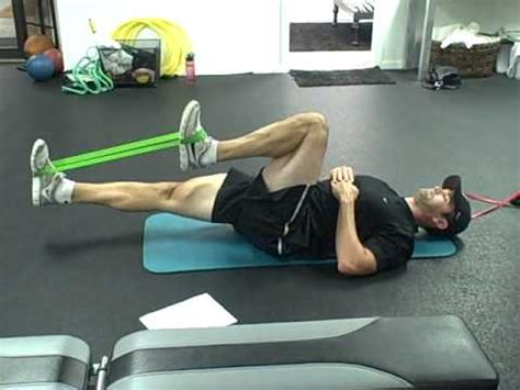 front hip flexor exercises with resistance loop