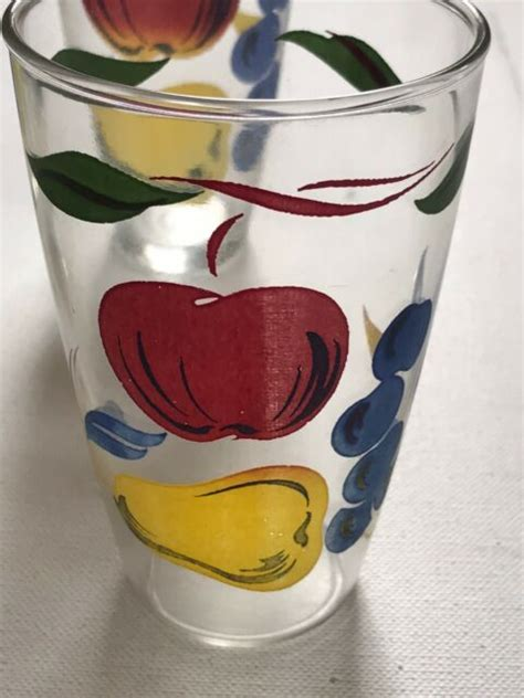 Fruit Drinking Glasses  Ebay.