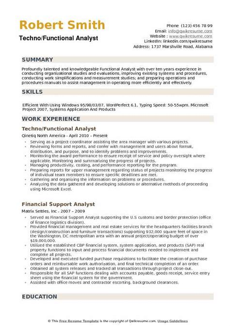 functional resume sample business analyst functional analyst resume sample best sample resume - Sample Resume For Business Analyst
