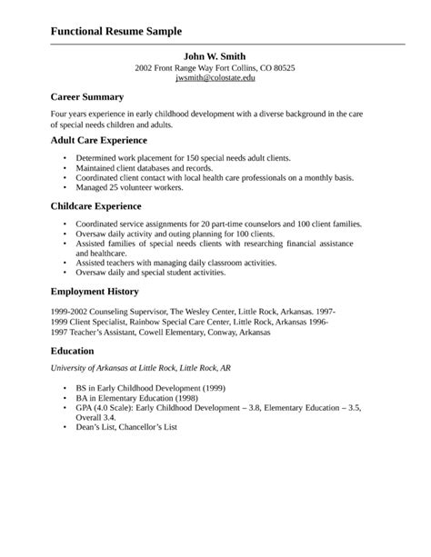 functional resume for child and youth worker case study for