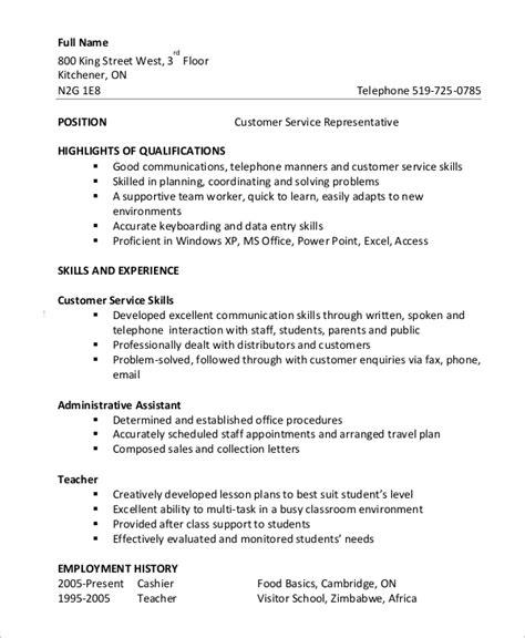 Functional Resume Customer Service Samples Customer Service Representative Resume Samples Jobhero