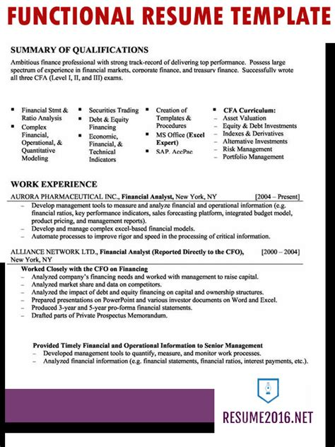 functional resume template for college student simple sample