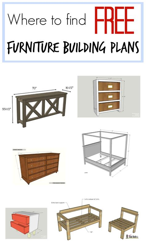 furniture building plans website