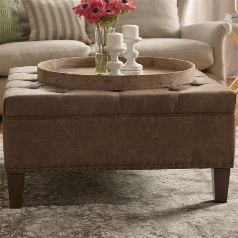 Gammoh Leather Cocktail Ottoman